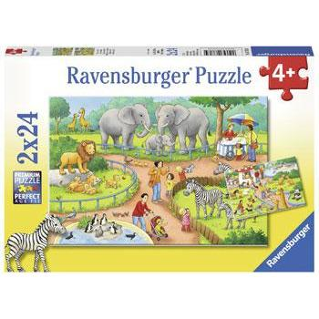 Rburg - A Day at the Zoo Puzzle 2x24pc