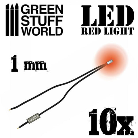 GREEN STUFF WORLD Micro LEDs - Red Lights - 1mm (0402 SMD)