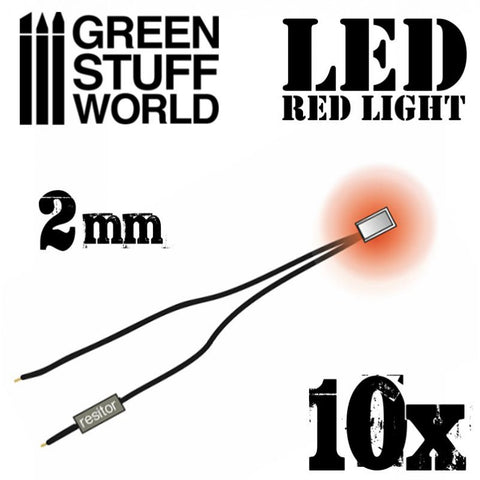 GREEN STUFF WORLD Micro LEDs - Red Lights - 2mm (0805 SMD)
