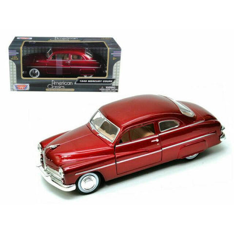 MOTORMAX 1/24 American Classics 1949 Ford Mercury Coupe Red