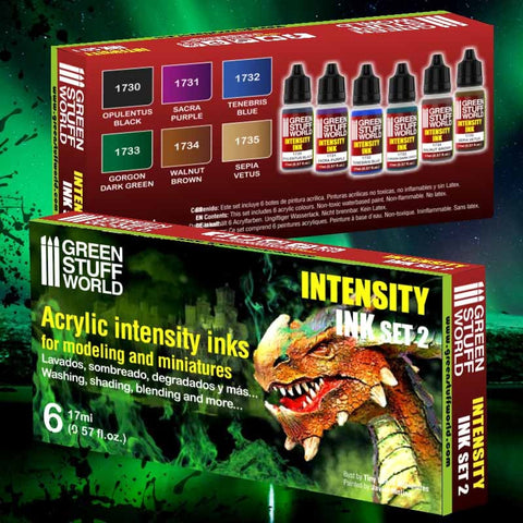 GREEN STUFF WORLD Paint Set - Intensity Ink Acrylic Paints