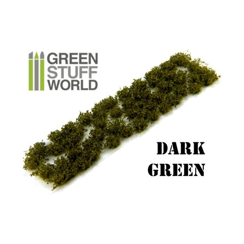 GREEN STUFF WORLD Shrub Tufts - 6mm Self-Adhesive Dark Gree