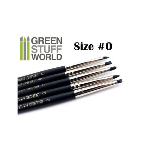 GREEN STUFF WORLD Colour Shapers Brushes Size 0 - Black Fir
