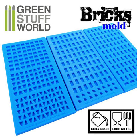Image of GREEN STUFF WORLD Bricks Texture Silicone mold