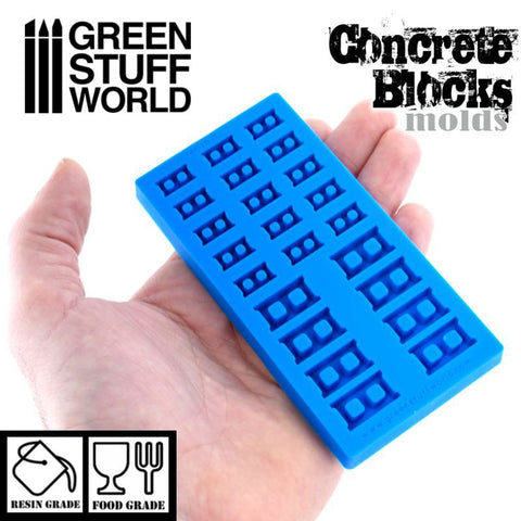Image of GREEN STUFF WORLD Silicone Molds - Concrete Bricks