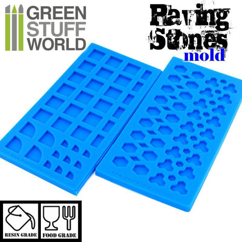 GREEN STUFF WORLD Silicone Molds - Paving Stones