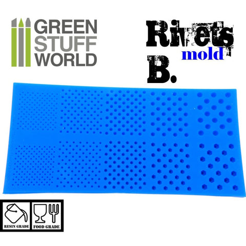 GREEN STUFF WORLD Silicone Molds - Rivets