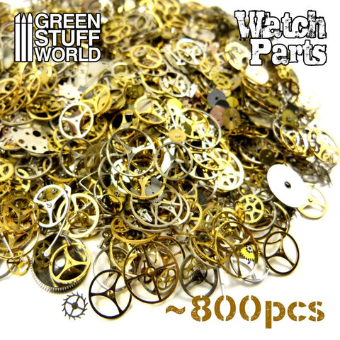 Image of GREEN STUFF WORLD Steampunk Watch Parts Beads 40gr