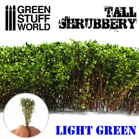 GREEN STUFF WORLD Tall Shrubbery - Light Green