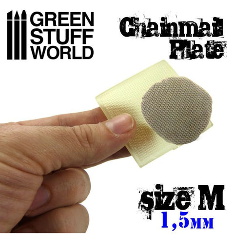 GREEN STUFF WORLD Texture Plate - Chain Mail Size M