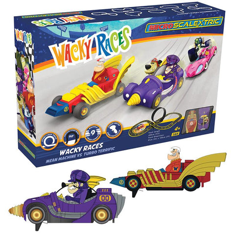 MICRO SCALEXTRIC WACKY RACES (MAINS POWERED) - NEW TOOLING
