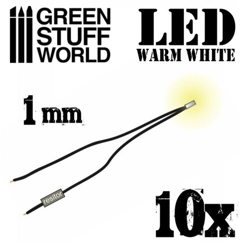 GREEN STUFF WORLD Micro LEDs - Warm White Lights- 1mm (0402