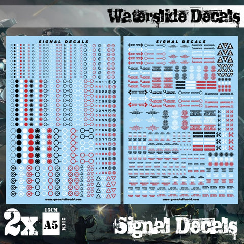 GREEN STUFF WORLD Waterslide Decal sheets - Signal Decals