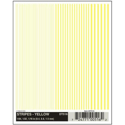 WOODLAND SCENICS Stripes - Yellow