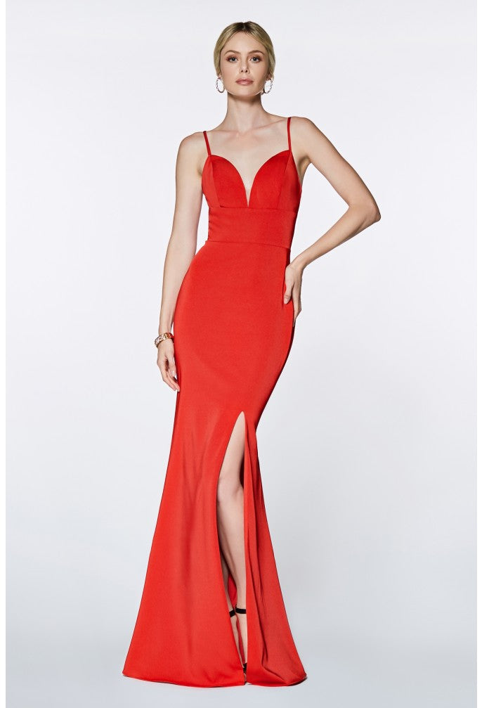 Movie Star Gown With Sexy Leg Slit Style #ci7470 | 2019 Prom New Arrivals