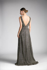 Long Shimmering Chiffon Gown | Norma Reed