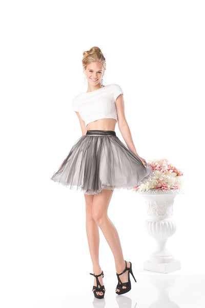 SHORT TWO PIECE PROM DRESS STYLE #CND968