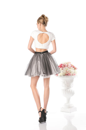 SHORT TWO PIECE PROM DRESS STYLE #CND968 - NORMA REED - 6