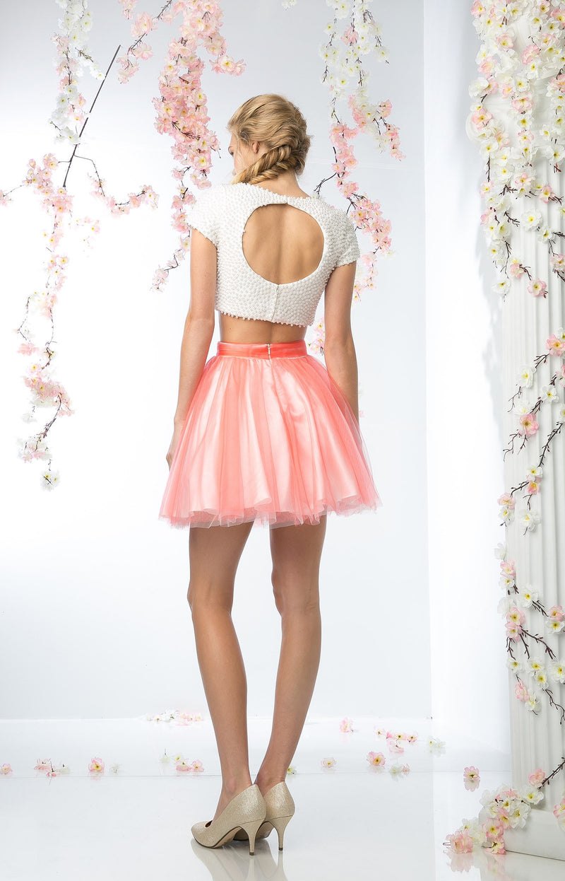 SHORT TWO PIECE PROM DRESS STYLE #CND968 - NORMA REED - 3