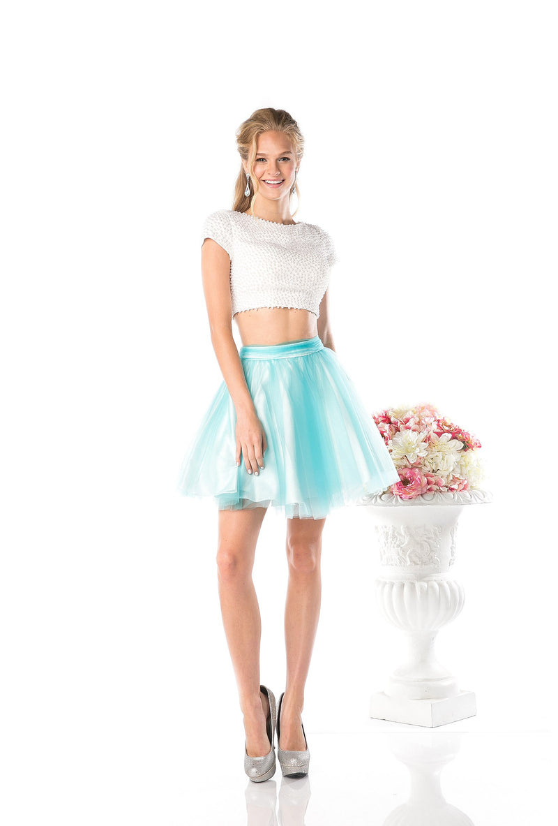 SHORT TWO PIECE PROM DRESS STYLE #CND968 - NORMA REED - 4