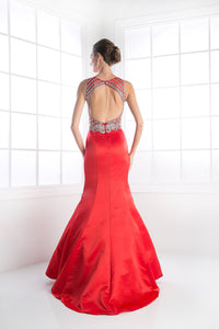 LONG MERMAID DRESS WITH AUSTRIAN CRYSTAL STYLE #CNDC238 - NORMA REED - 2