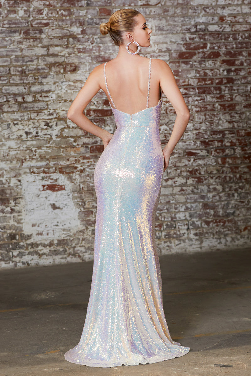 Shimmering Opal Dress in Lilac Or Blush Style #LACD202 | Prom 2020