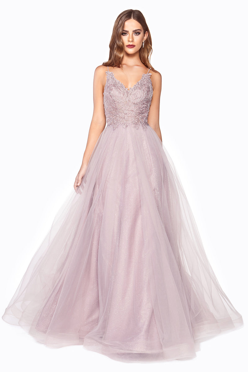 Chiffon Ball Gown With Lace Corset Style #LACD899 | Prom 2020