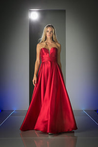 LONG SATIN BALL GOWN STYLE #CNDCJ213 - NORMA REED - 1