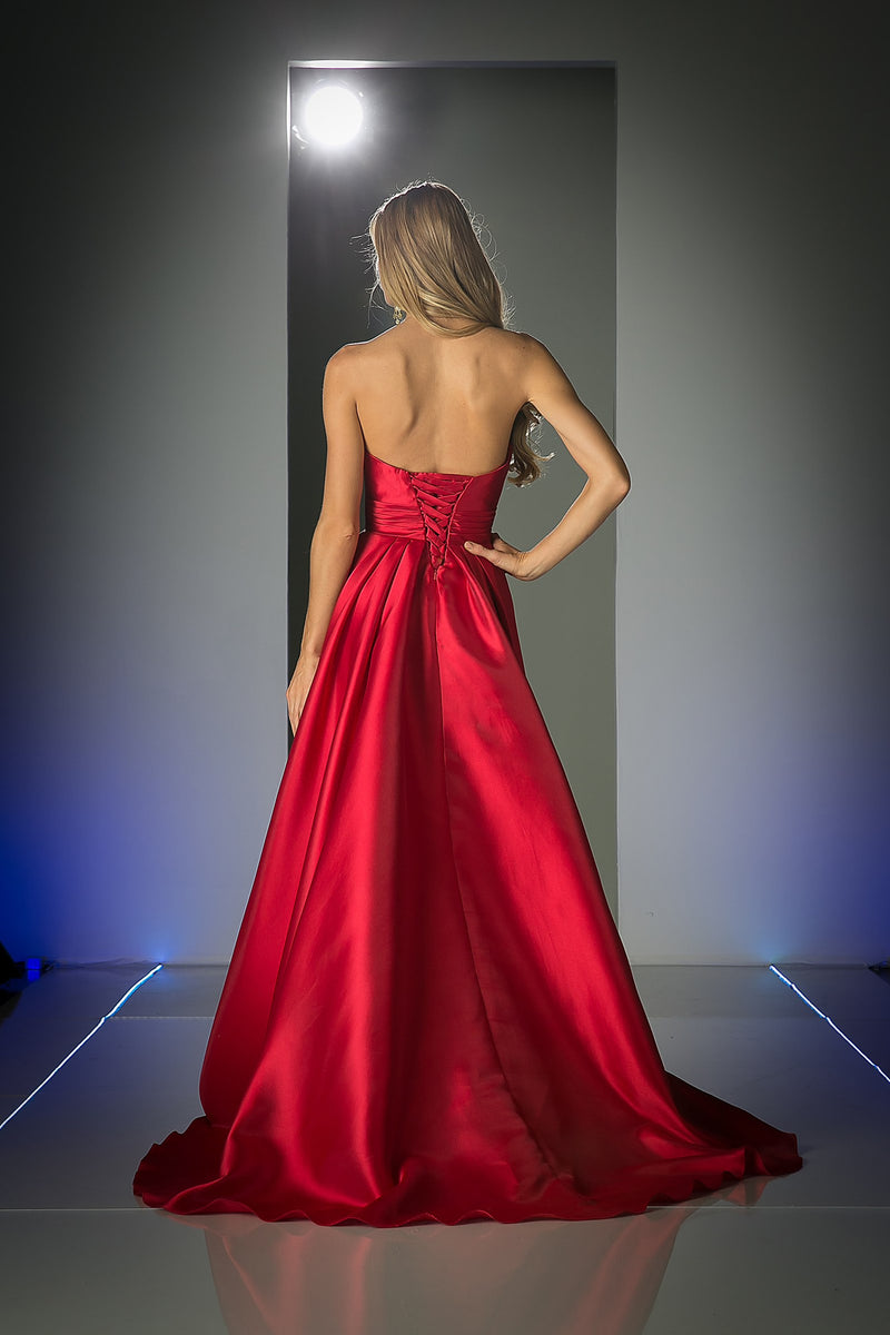 LONG SATIN BALL GOWN STYLE #CNDCJ213 - NORMA REED - 2