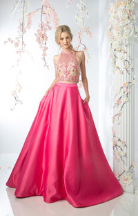 TWO PIECE FLOWING BALL GOWN STYLE #CNDCP811 - NORMA REED - 1