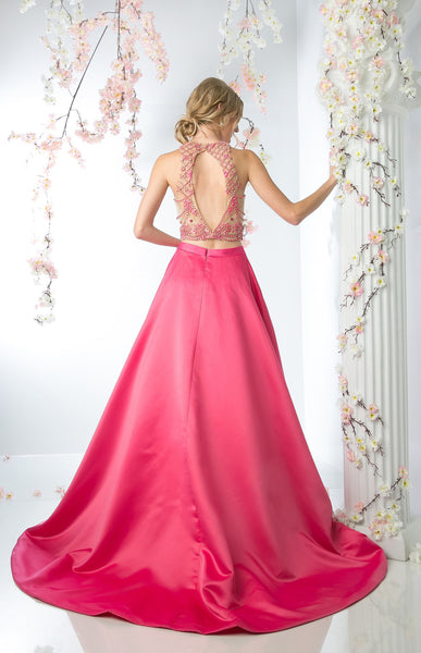 TWO PIECE FLOWING BALL GOWN STYLE #CNDCP811