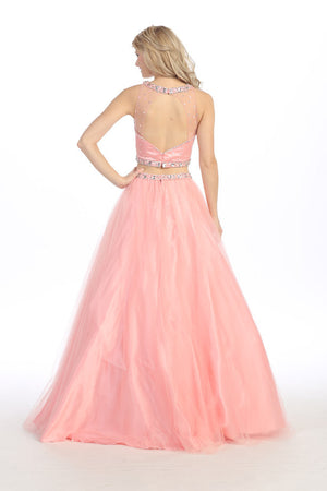 SEXY TWO PIECE PROM DRESS WITH CRYSTAL EMBROIDERY STYLE #EKA3300 - NORMA REED - 2