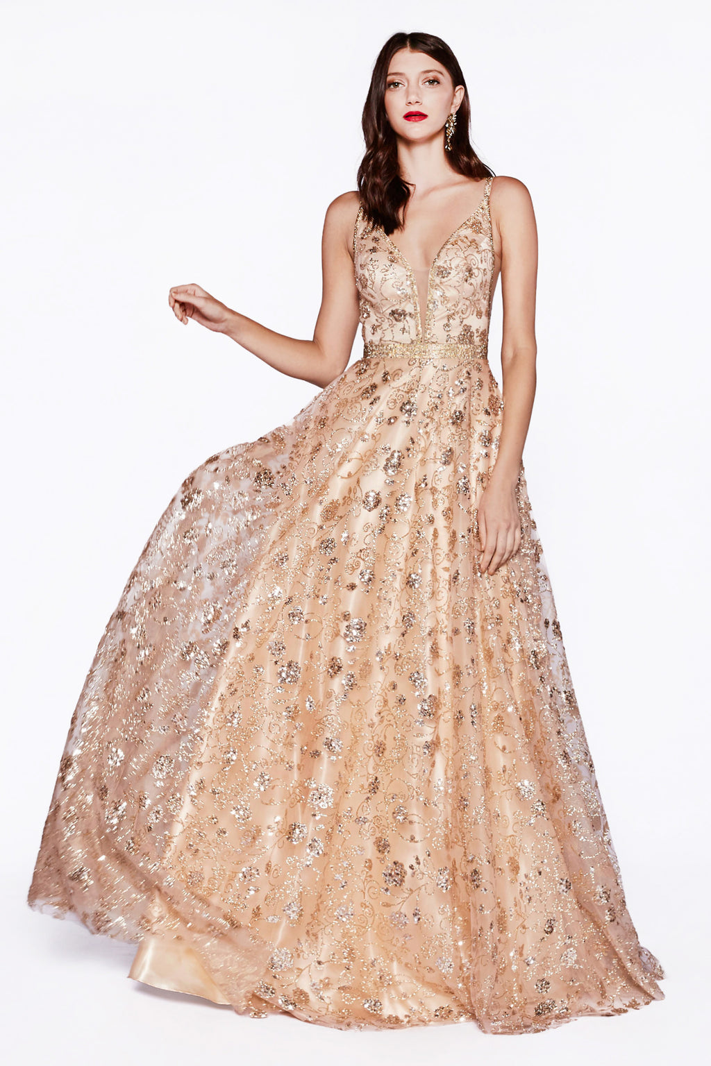 Shimmering Sequin Ball Gown Style #LAJ781 | Prom 2020