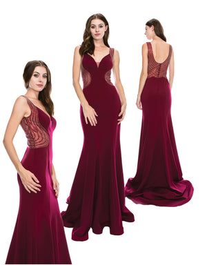 Classic Movie Star Gown With Side Sheer Inserts | Norma Reed