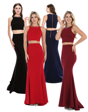 Sexy Two Piece Curve Defining Silhouette Dress | Norma Reed