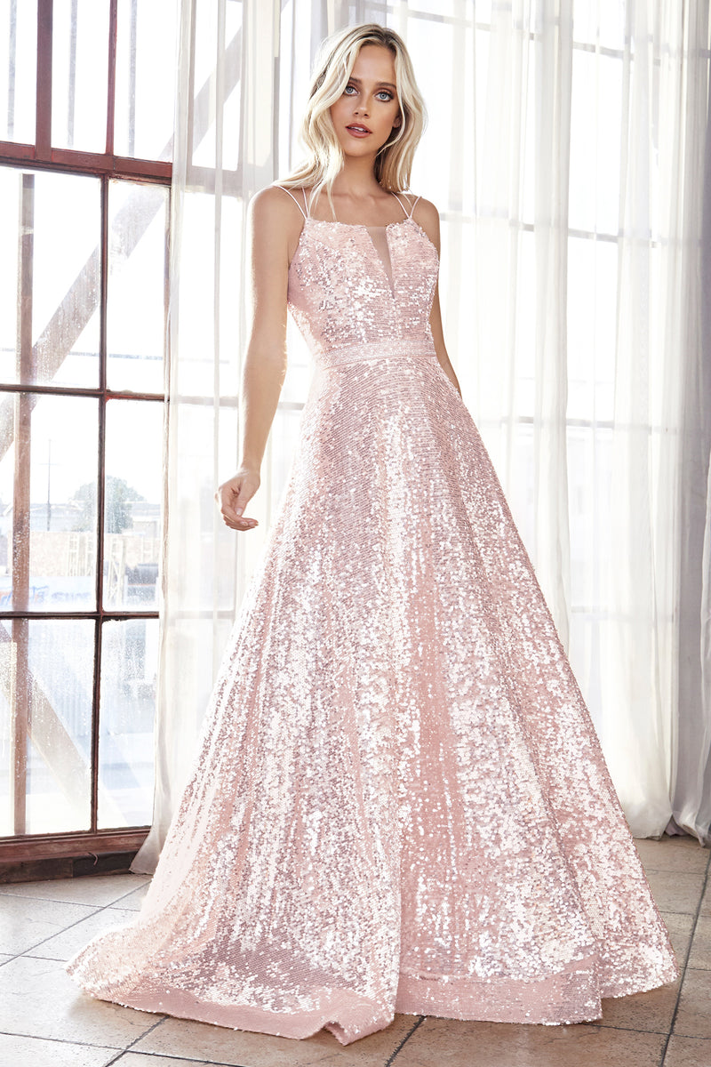 Shimmering Sequin Ball Gown Style #LAAM518 | Prom 2020