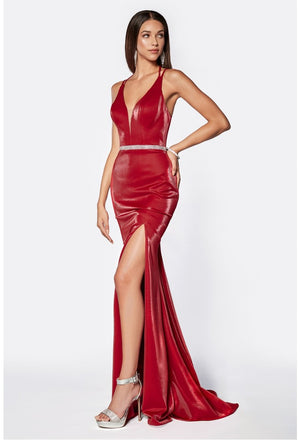 Sexy Shimmering Dress With Leg Slit & Austrian Crystal Style #cic81188 | 2019 Prom New Arrivals