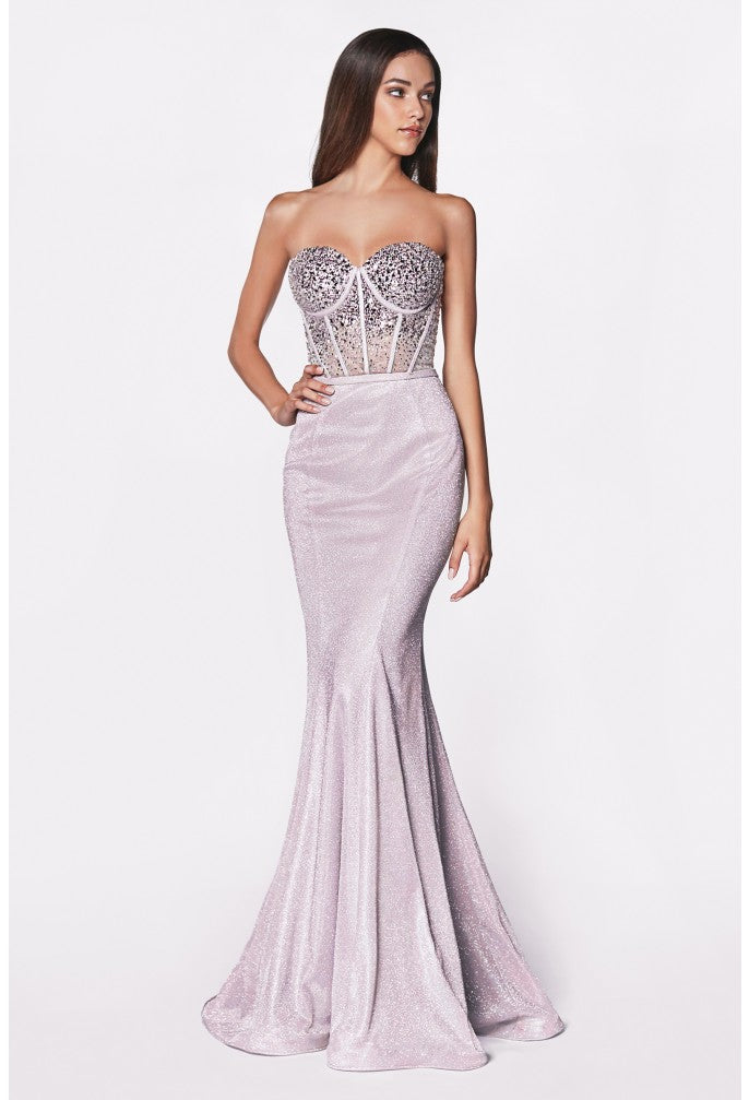 Shimmering Low Cut Dress With Austrian Crystal Embroidery Style #cicb0030 | 2019 Prom New Arrivals