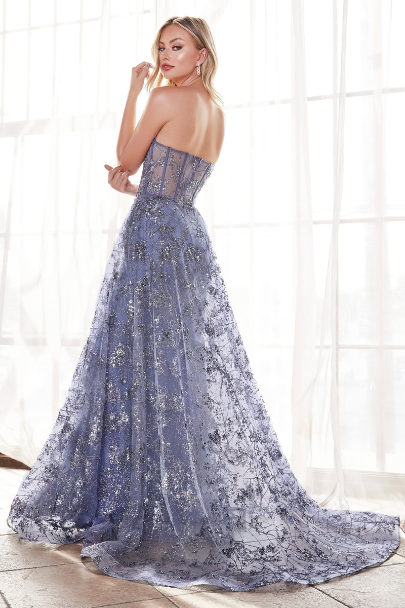 Lace Embroidered Strapless Mermaid Gown With Flowing Train Style #LACB046 | Prom 2020