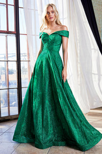 Shimmering Metallic Ball Gown Style #LACB050 | Prom 2020