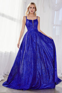 Shimmering Metallic Princess Ball Gown Style #LACB051 | Prom 2020