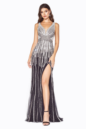 Shimmering Austrian Crystal & Heavy Sequin Gown Style #LACD69 | Prom 2020