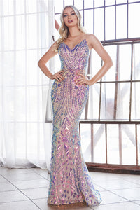 Shimmering Crystal Mermaid Gown Style #LACD904 | Prom 2020