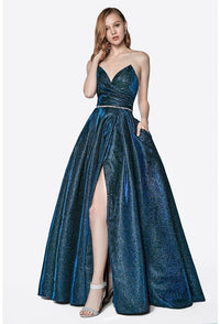 Sparkling Ball Gown With Sexy Leg Slit Style #cice0018 | 2019 Prom New Arrivals