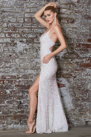 Shimmering Fabric Dress With Sexy Leg Split Style #LACR848 | Prom 2020