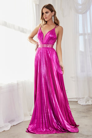 Shimmering Metallic Gown Style #LACW230 | Prom 2020