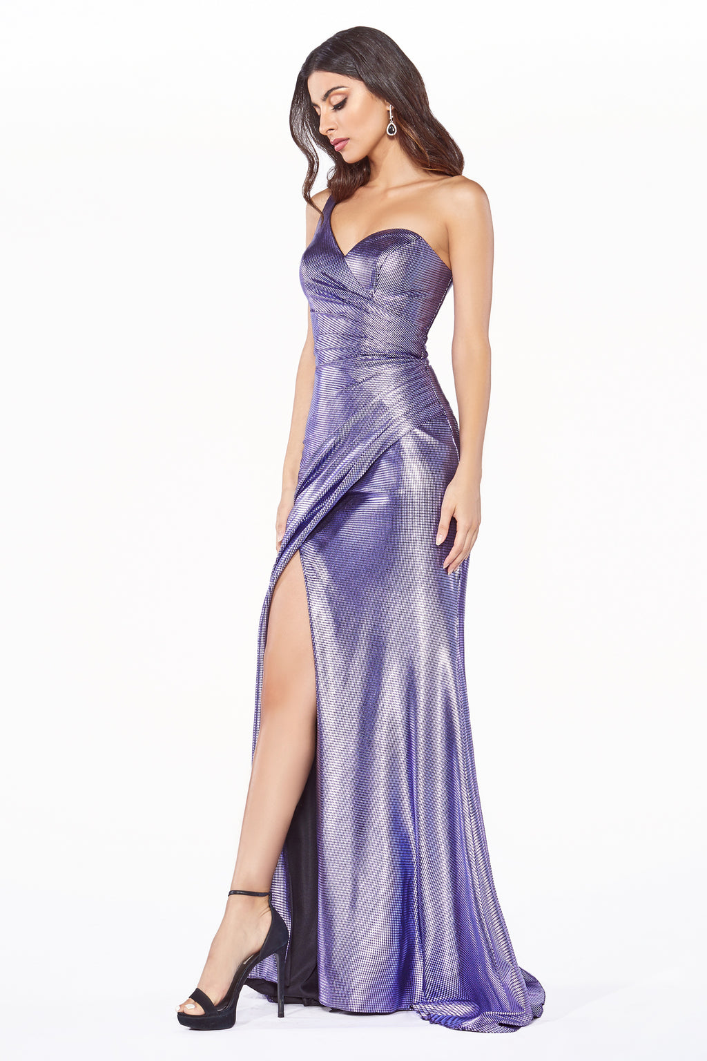 One Shoulder Slit Leg Dress Style #LAKC894 | Prom 2020