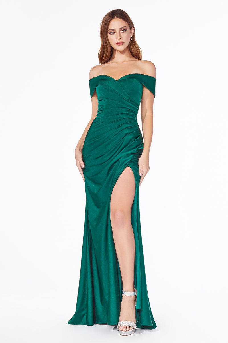 Sexy Off Shoulder Slit Leg Dress Style #LAKV1050 | Prom 2020