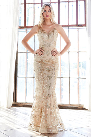 Lace & Sequin Embroidered Mermaid Gown Style #LAR2901 | Prom 2020