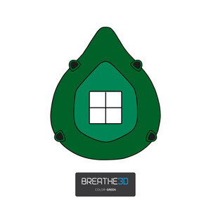 Breathe3D Mask: Green